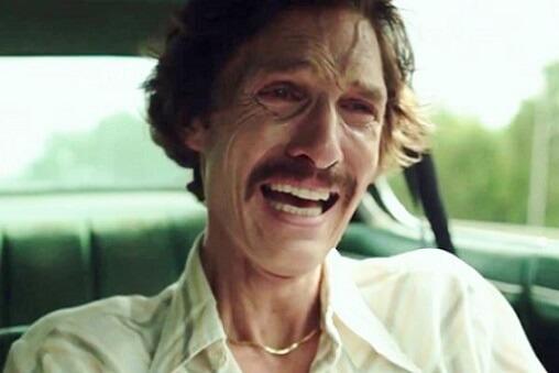『ザ・ダラス・バイヤーズ・クラブ』でエイズ患者役の為38ポンド(約17キロ)も減量した時のマシュー・マコノヒー氏