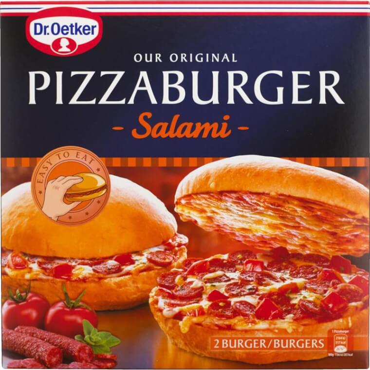 ハンバーガーの中身がピザwwwその名も「PIZZABURGER(ピザバーガー)サラミ味